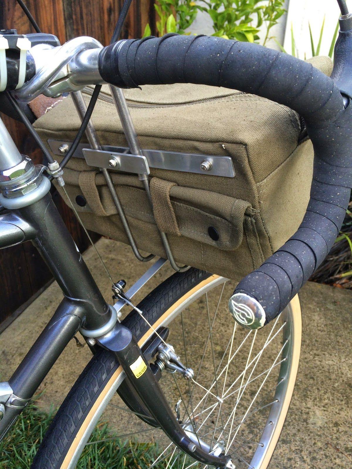 Diy Handlebar Bag And Support Rack Handlebar Bag Bike Bag
