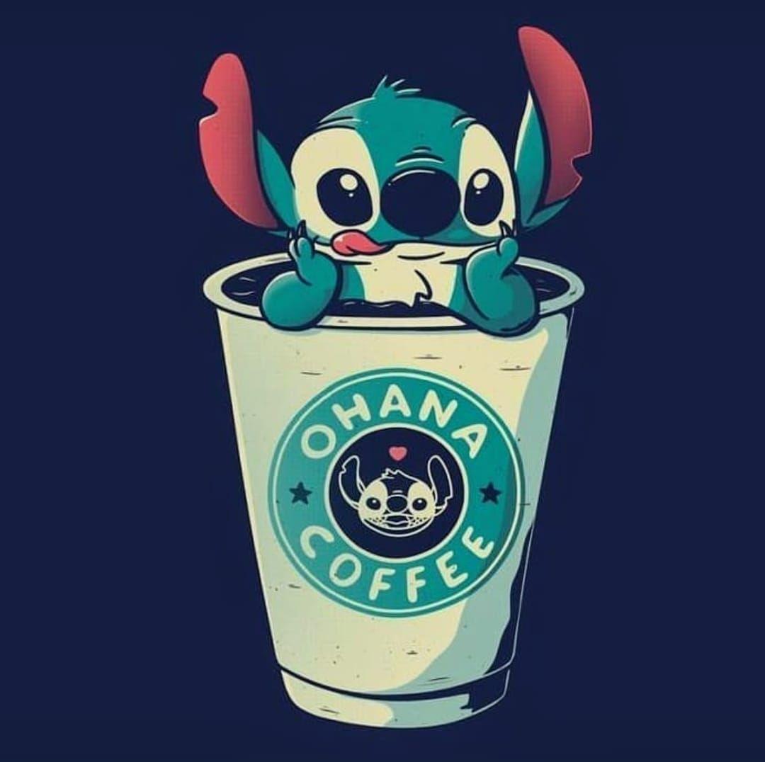 Drink A Coffee Cute Disney Wallpaper Cute Disney Pictures Cute Stitch