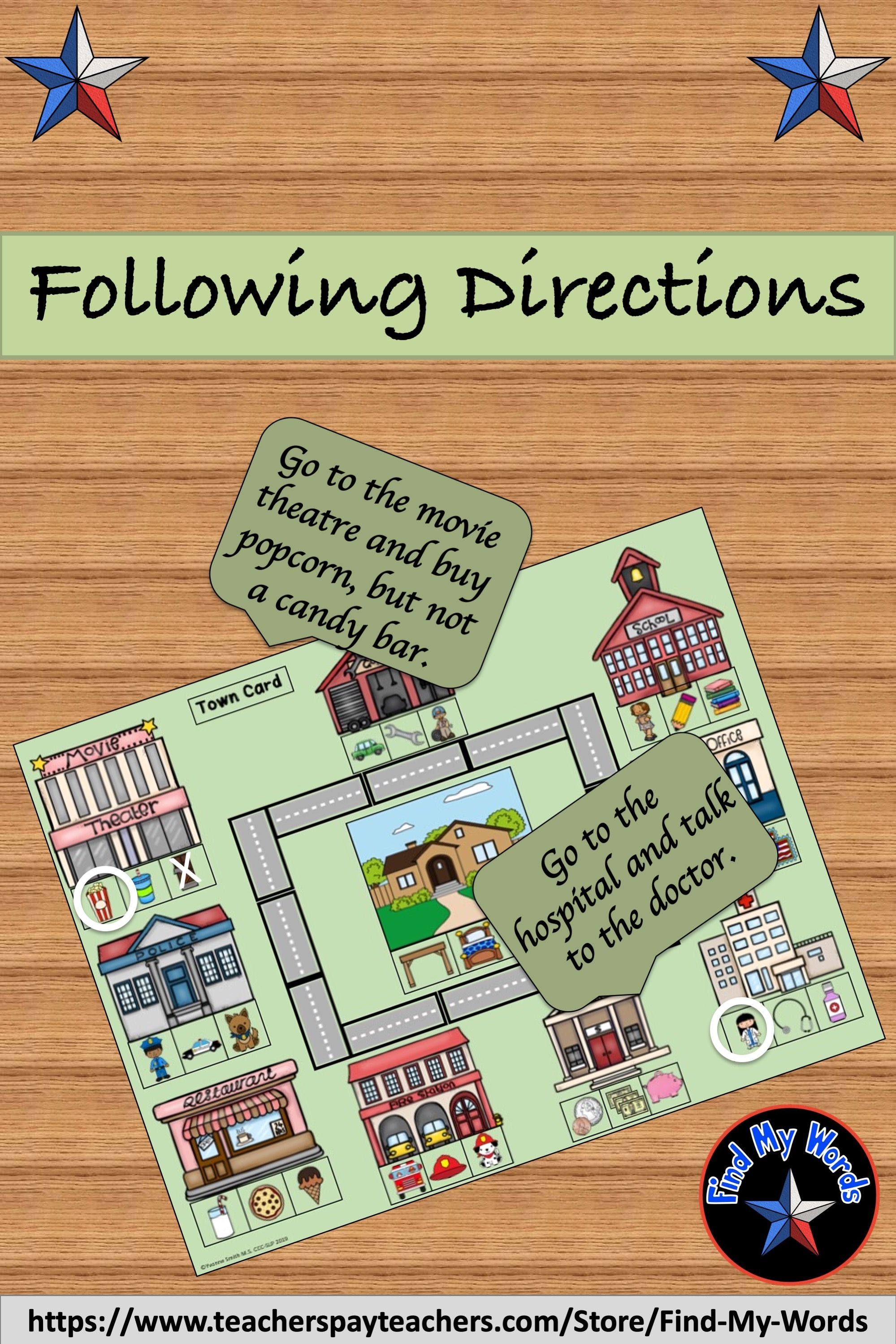 Listening And Following Directions Activity In