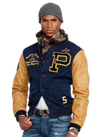 ab40c6d4bf2 Davidson Varsity Jacket - Polo Ralph Lauren Cloth - RalphLauren.com ...