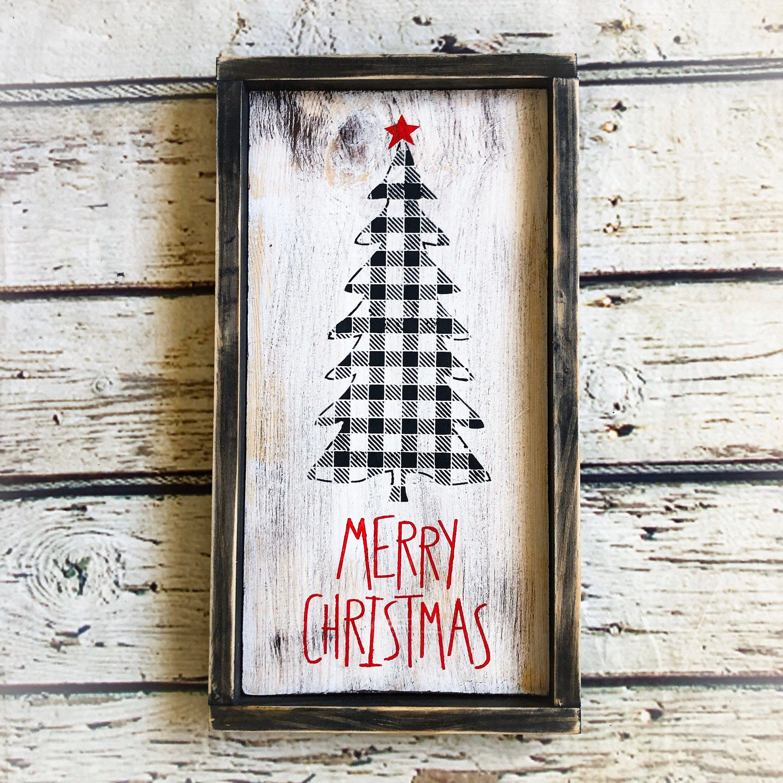 Farmhouse Christmas Wood Christmas Decor Merry