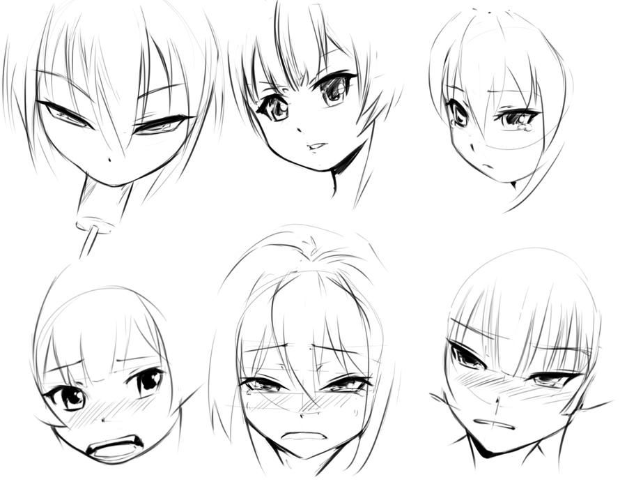 Faces By Https Www Deviantart Com Forgotten Wings On Deviantart Anime Faces Expressions Face Drawing Face Drawing Reference