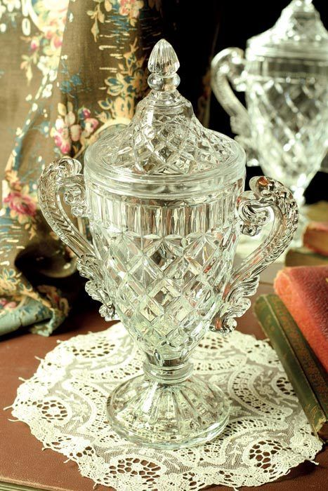 """""""First Place"""" crystal trophy from Victorian Trading Co."""