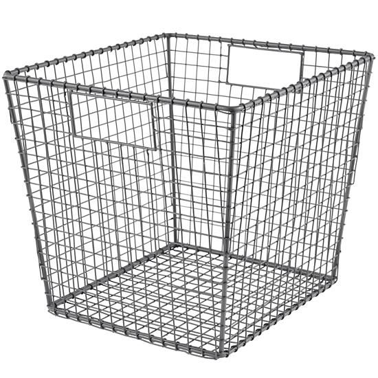 11 x 12 Down to the Wire Cube Bin (Grey) | The Land of Nod ...