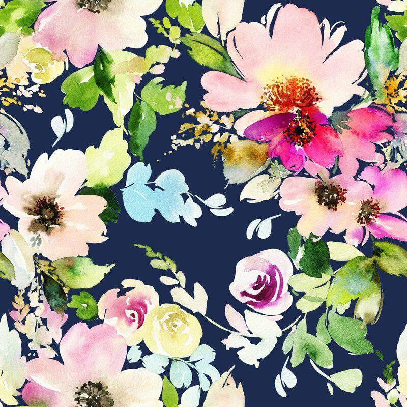 Bungalow Rose Mcclelland Removable Blossoms Watercolor 10
