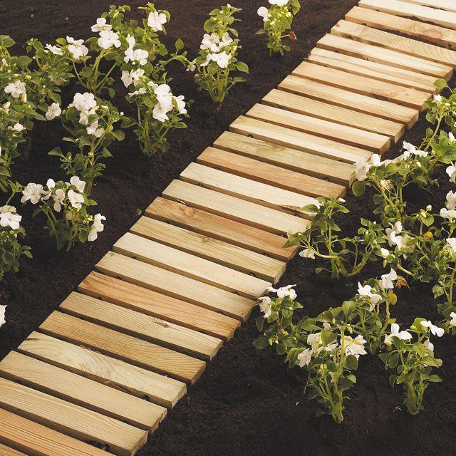 Chemin de potager cm castorama jardin bio organic garden pinterest gardens - Bordure jardin bois castorama ...