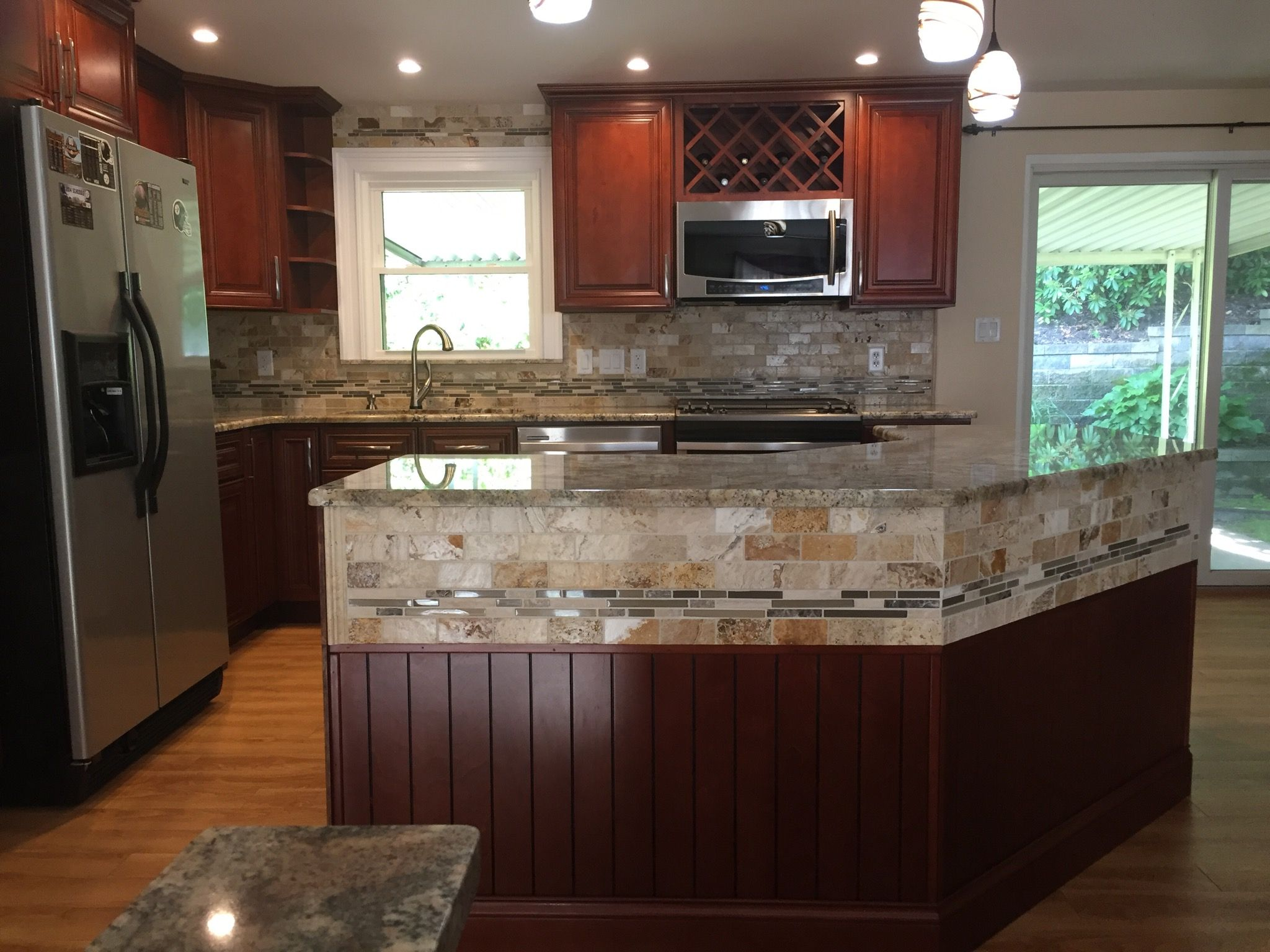 Lily ann cabinets review - Charleston Cherry Kitchen Cabinets Remodel By Lily Ann Cabinets Hello Howdy I