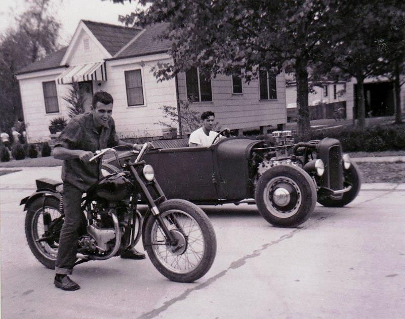 Old School Square Off – Hot Rod vs Motorcycle | MotoFotoStudio ...