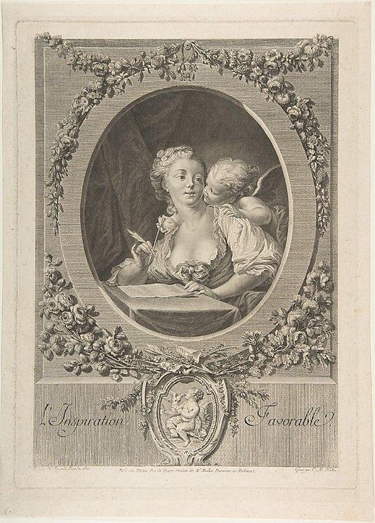 L'Inspiration Favorable.  After Jean Honoré Fragonard  (French, Grasse 1732–1806 Paris).