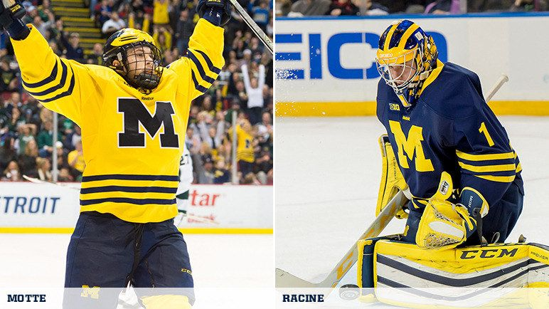 Motte Racine Michigan Athletics Star Of The Week Michigan Hockey