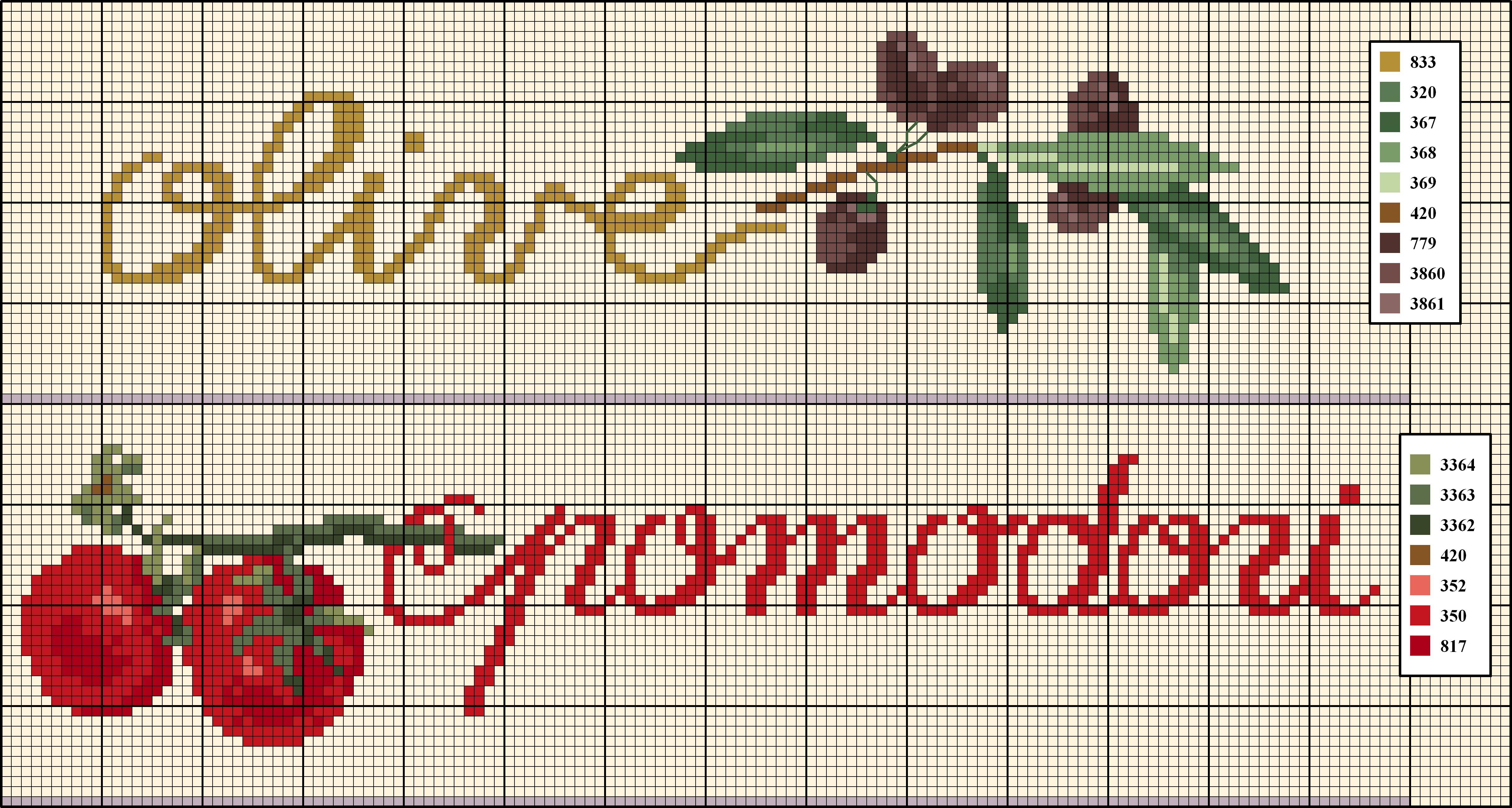 Olive E Pomodori Punto Croce Ricamo Punto Croce Schemi E