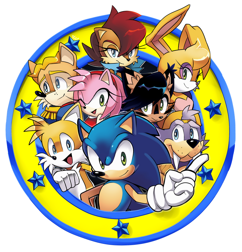 Freedom Fighters Emblem Archie Sonic Online By Drawloverlala On Deviantart In 2020 Archie Sonic Online Sonic Sonic Birthday