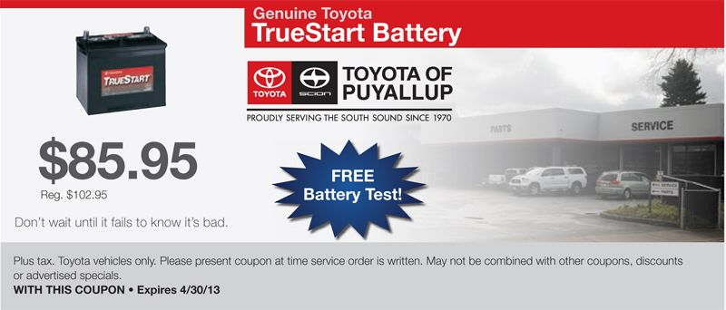Battery service coupon battery testing toyota cars coupons