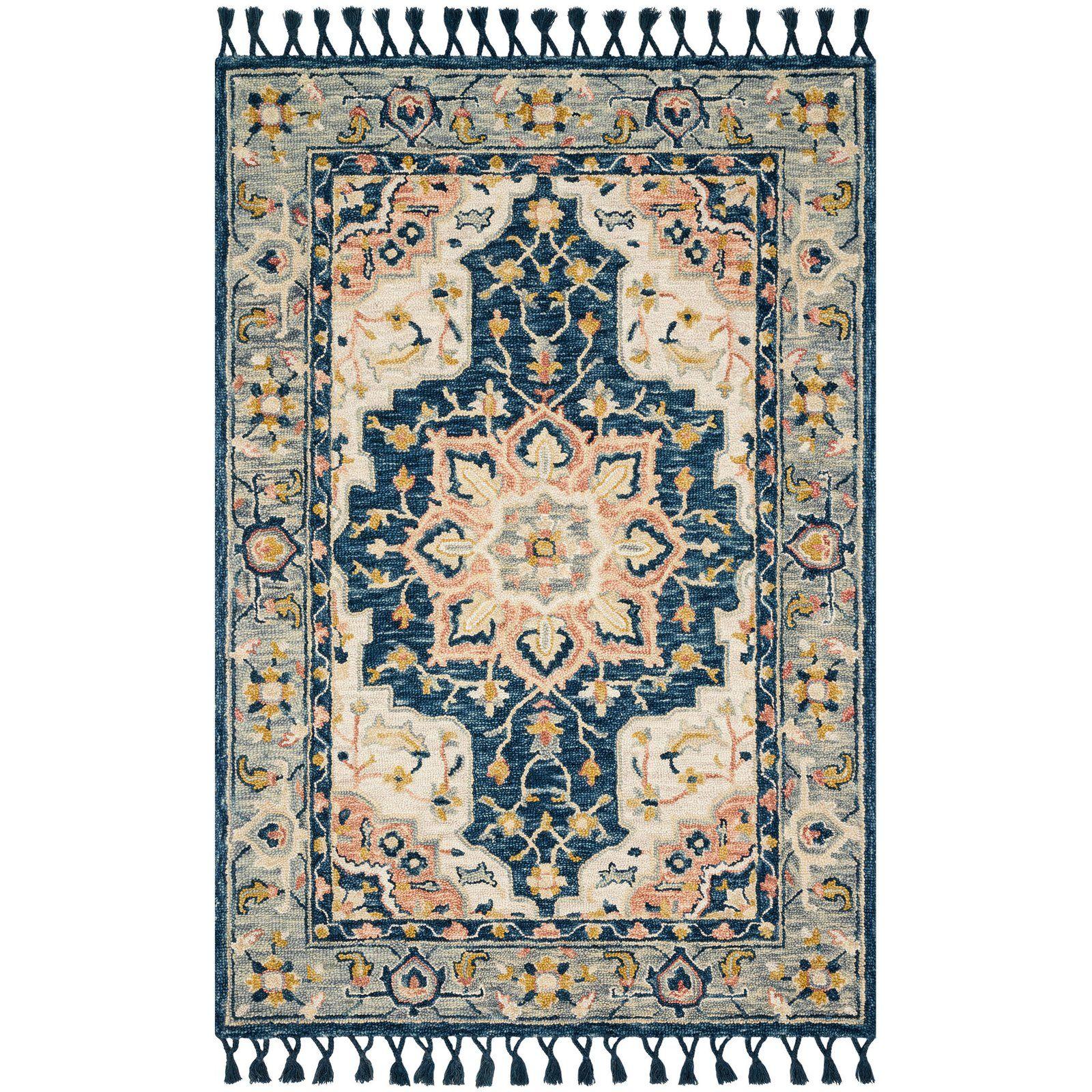 Kasuri Blue Multi Rug in 2020 Magnolia home rugs