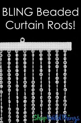 Bling Curtain Rods Add On Service With Images Curtain Rods Beaded Curtains Custom Curtain Rods