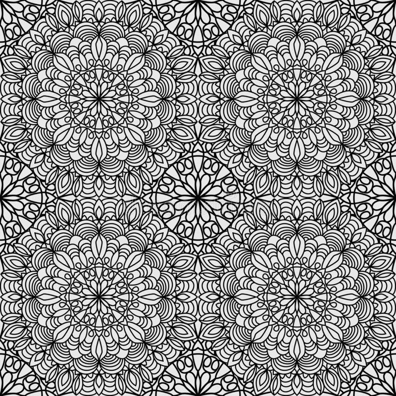 Photo of Seamless Pattern From Circular Ornament In Form Of Mandala For Henna, Mehndi, Tattoo, Decoration. Decorative Background In Ethnic Stock Vector – Illustration of lace, henna: 159772230
