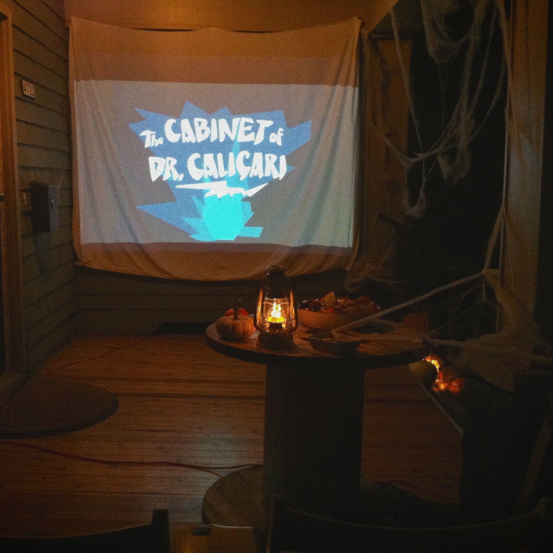 Wood & Grain DIY Halloween Outdoor Silent Movie Night