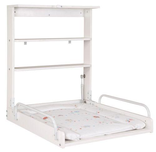 משטח החתלה נתלה מעוצב ומתקפל Shelly Coco בצבע לבן משטחי החתלה Wall Mounted Changing Table Unique Wall Shelves Baby Changing Tables