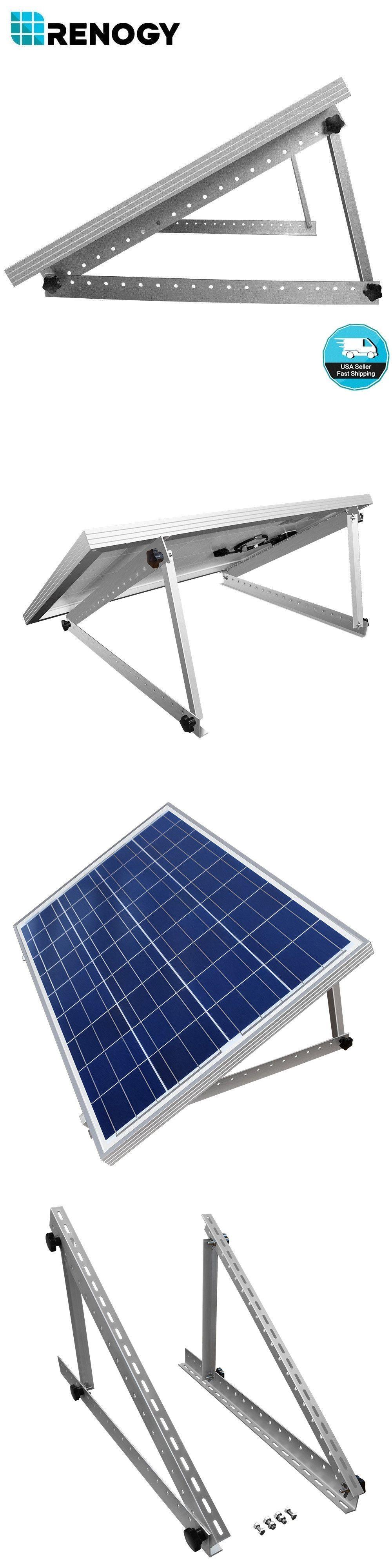 Alternative And Solar Energy 41979 Renogy Solar Panel Tilt Mount Brackets Rv Flat Surface Mounting Set Adjustable Buy It Solar Panels Rv Solar Panels Solar