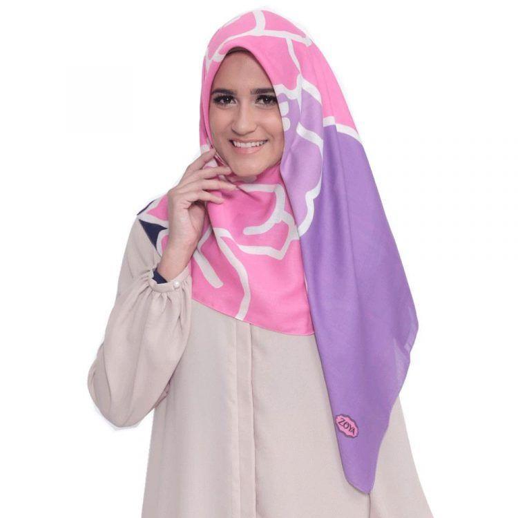 Tutorial Hijab Segi Empat Zoya Ragam Muslim How To Wear Hijab Hijab Tutorial Hijab