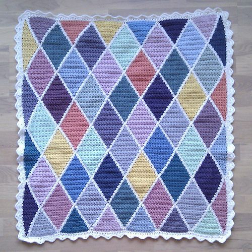 Harlequin Blanket By Solveig Grimstad Free Crochet Pattern