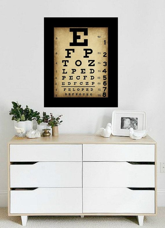 Vintage Eye Chart Print  Wall Art  Home by TheParisMasquerade, $10.00
