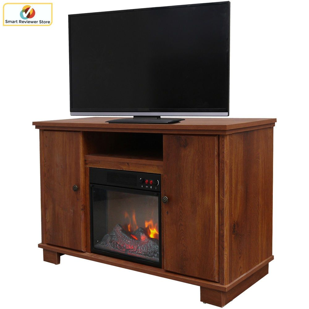 48 Inch Tv Stand With Fireplace Media Console Electric Entertainment