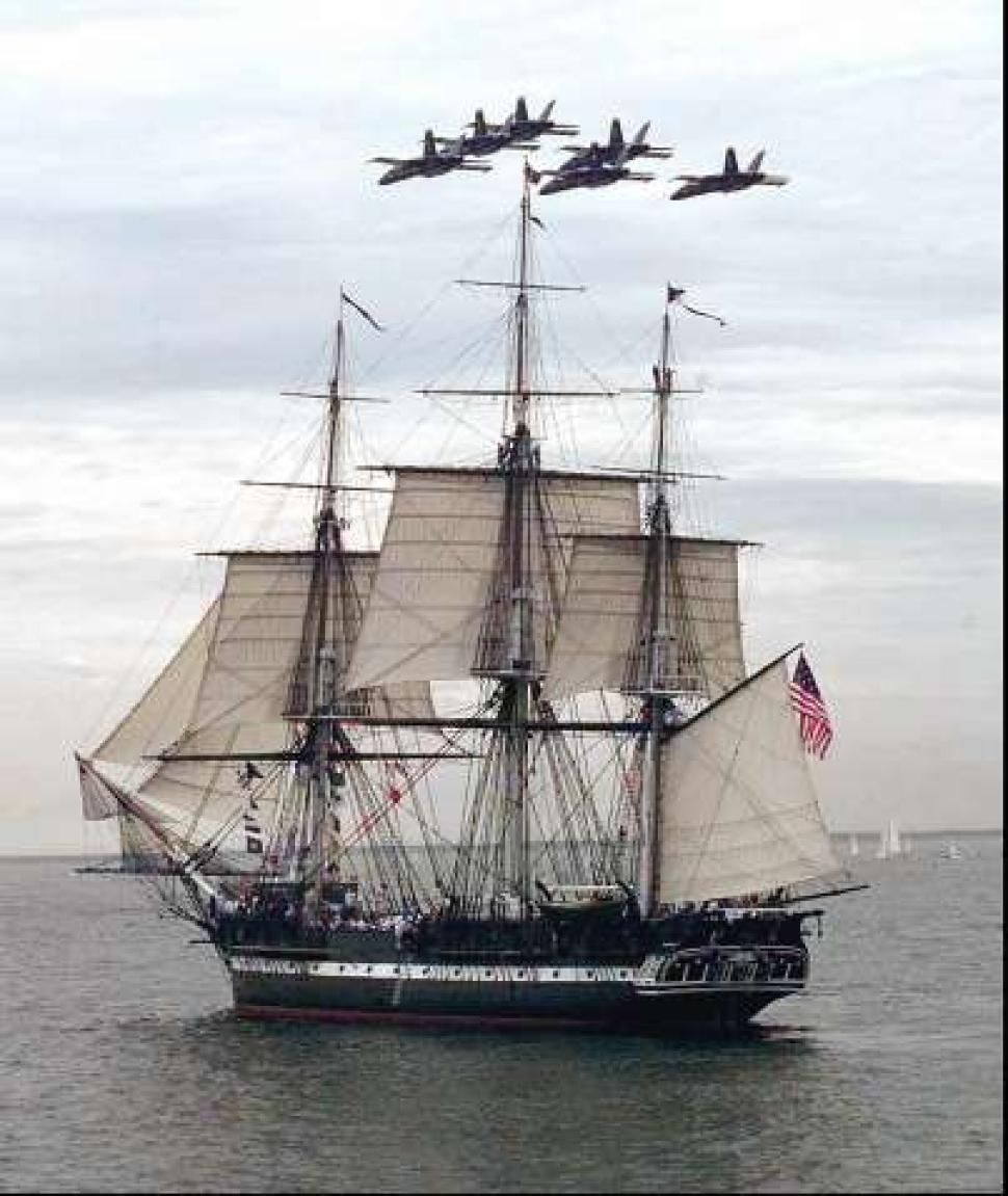 """USS Constitution /""""Old Ironsides/"""" Art on Canvas"""