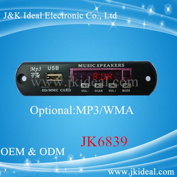 Jk6839 Speaker Amplifier Decoder Usb Sd Mp3 Sound Module For Audio ...