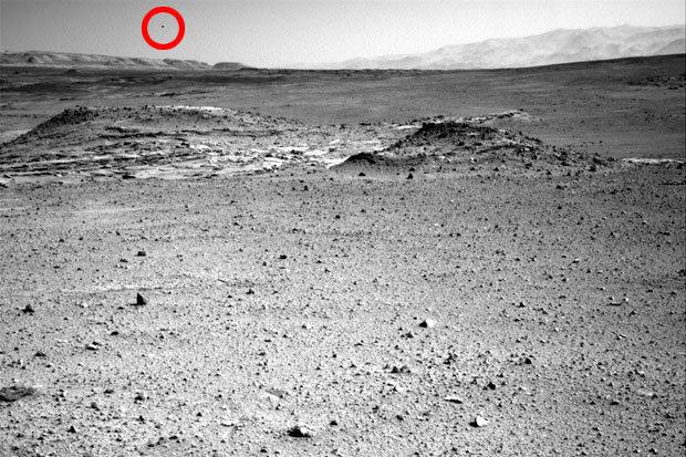 Foto da NASA mostra misterioso objeto negro no céu de Marte :: Caçadores de Mistérios