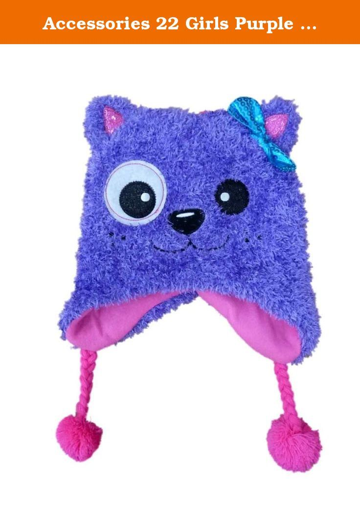 1d06a0a746a82 Accessories 22 Girls Purple   Pink Kitty Cat Peruvian Trapper Hat With 3-D  Ears