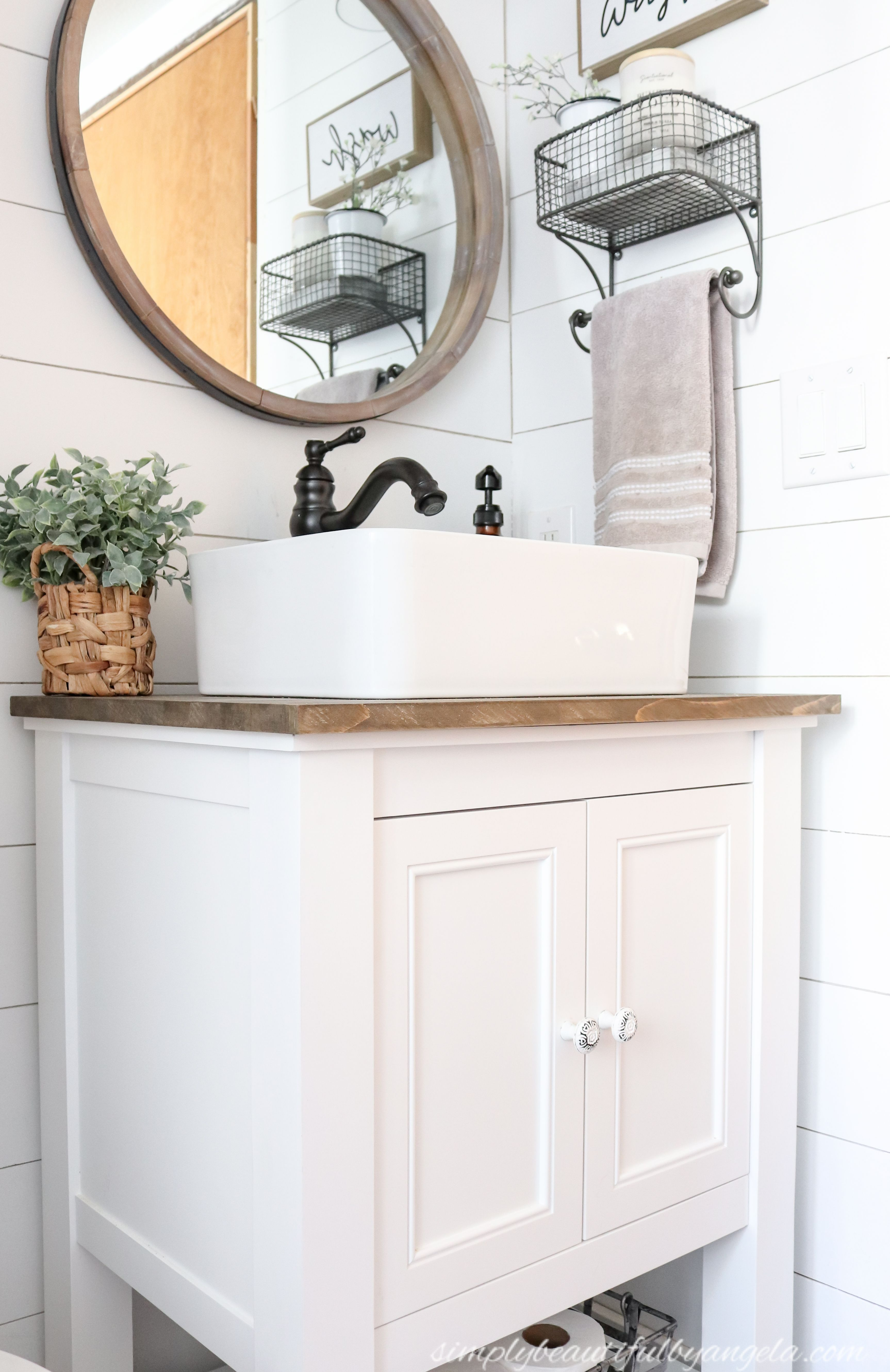 How to Install a Vanity & Vessel Sink Combo | Vanity sink ...