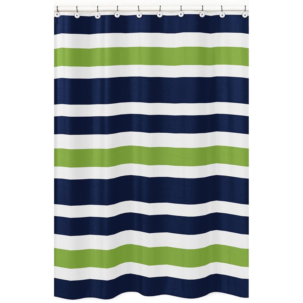 navy blue and white striped shower curtain. Sweet Jojo Designs Navy Blue Orange and White Kids Bathroom Fabric Bath  Teen Stripe Shower Curtain Read more at the image link Stripes H Town Digs Pinterest