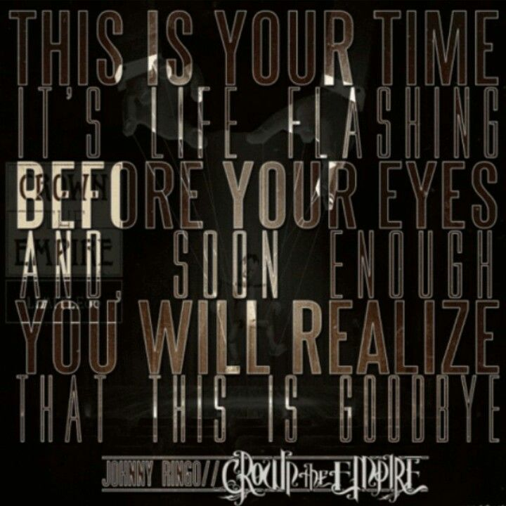 Crown The Empire Johnny Ringo Band Quotes Just Lyrics Crown The Empire