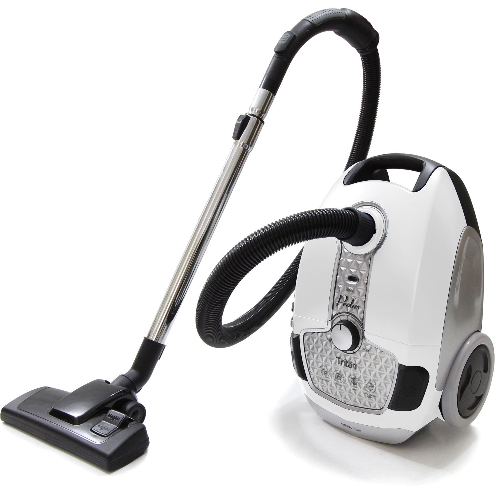 Prolux Tritan Canister Vacuum Hepa Sealed Hard Floor Vacuum With Powerful 12 Amp Motor White Canister Vacuum Vacuums Canisters