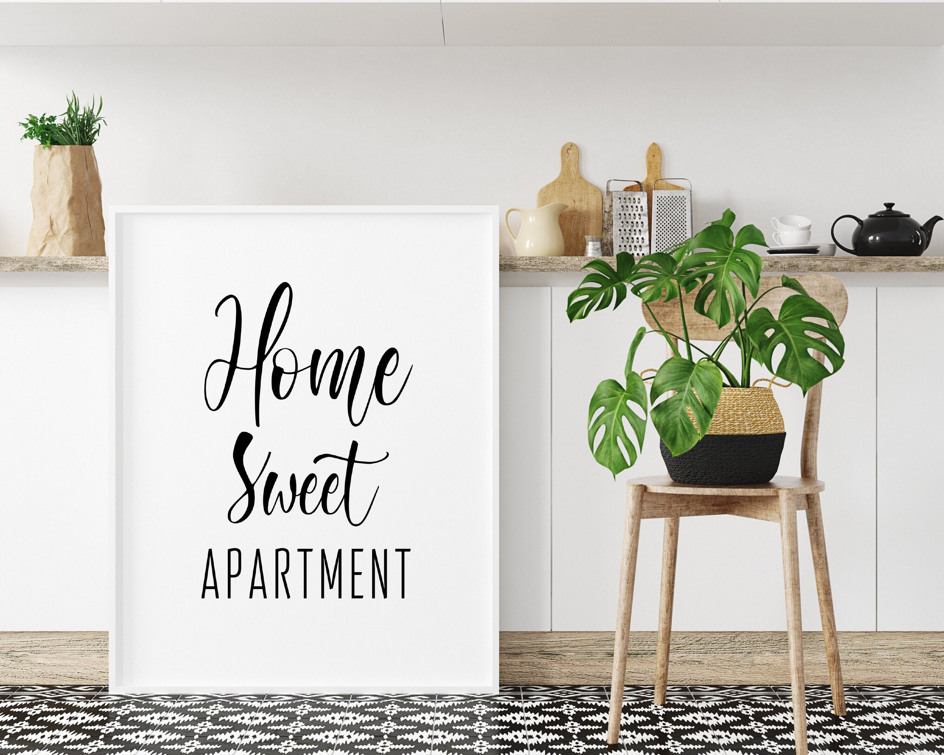 Home Sweet Apartment Printable Poster Home Wall Art   Etsy
