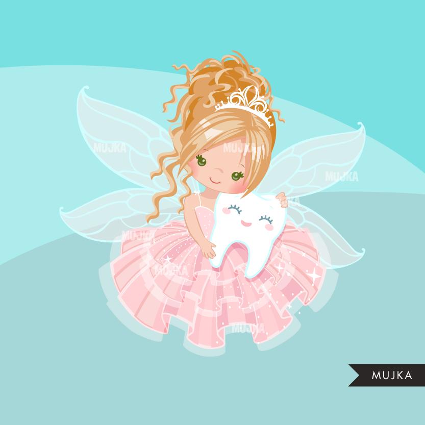 Tooth Fairy Clipart Cute Fairy Graphics Mujka Clipart Printable Characters Custom Graphic Design Fada Dos Dentes Desenho Menina Fadas
