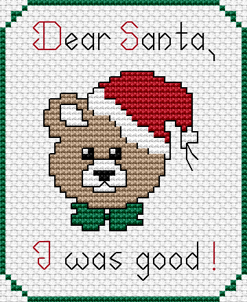Free Cross Stitch Pattern – Santa I was Good | Projects to Try ...