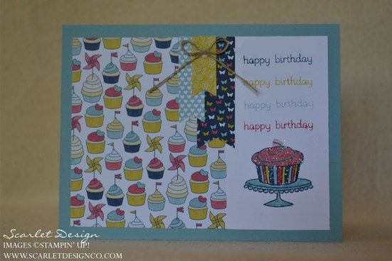 banner birthday using the Easy Events stamp set