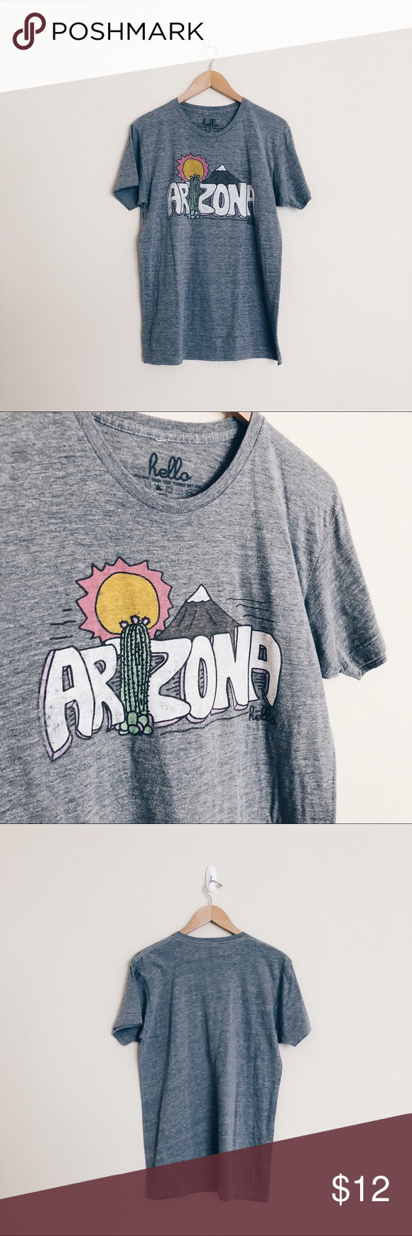 Hello Apparel • Arizona Cactus Short Sleeve Shirt Good Pre-Owned Condition. Hello Apparel Tops Tees - Short Sleeve #arizonacactus Hello Apparel • Arizona Cactus Short Sleeve Shirt Good Pre-Owned Condition. Hello Apparel Tops Tees - Short Sleeve #arizonacactus