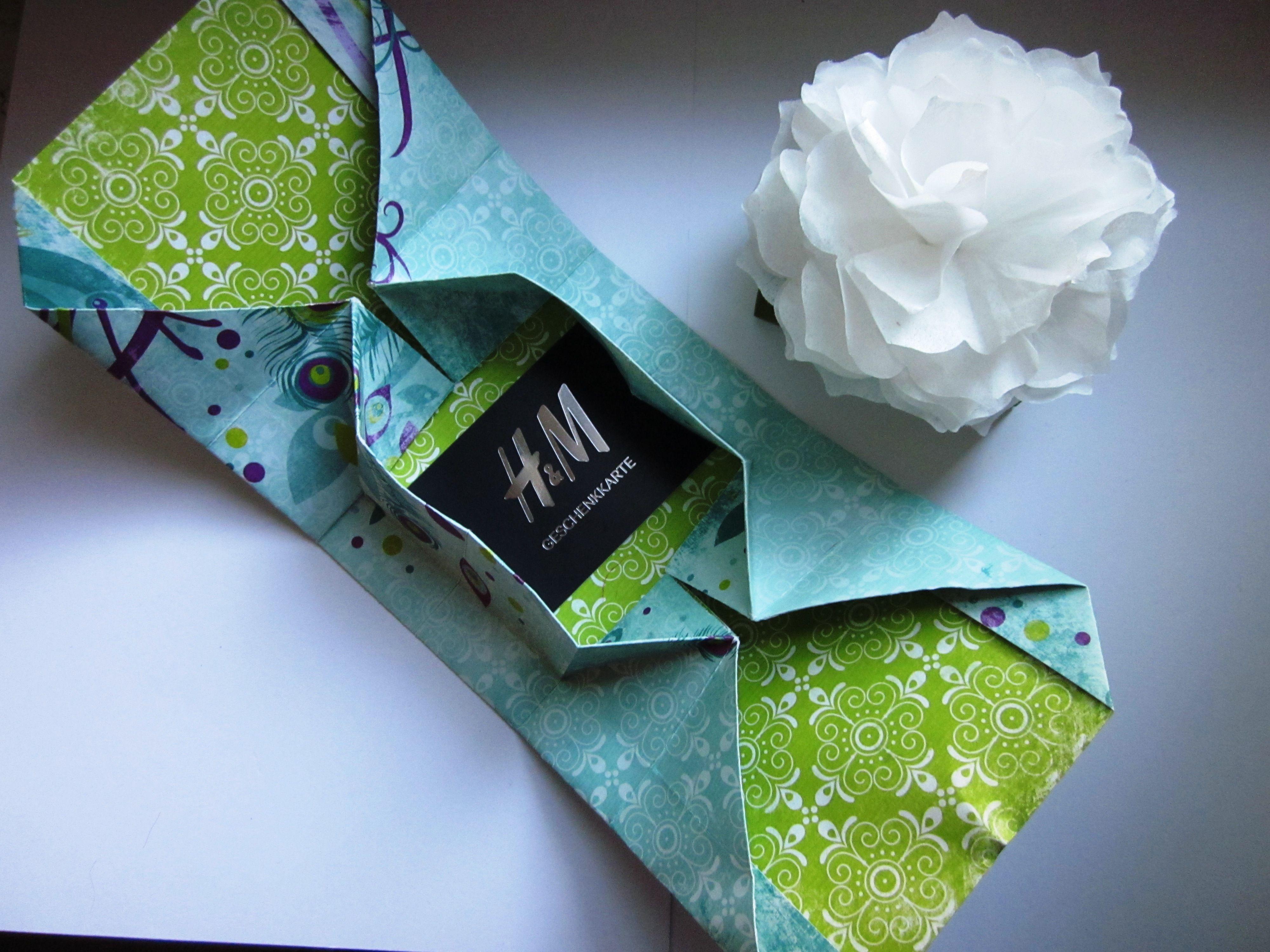 stampin up origamibox gutscheinkarte verpackung stampin up pinterest. Black Bedroom Furniture Sets. Home Design Ideas