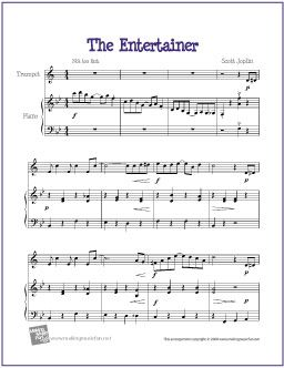 picture about Free Printable Sheet Music for Trumpet named The Entertainer (Joplin) Trumpet Sheet Audio (Totally free) Cost-free