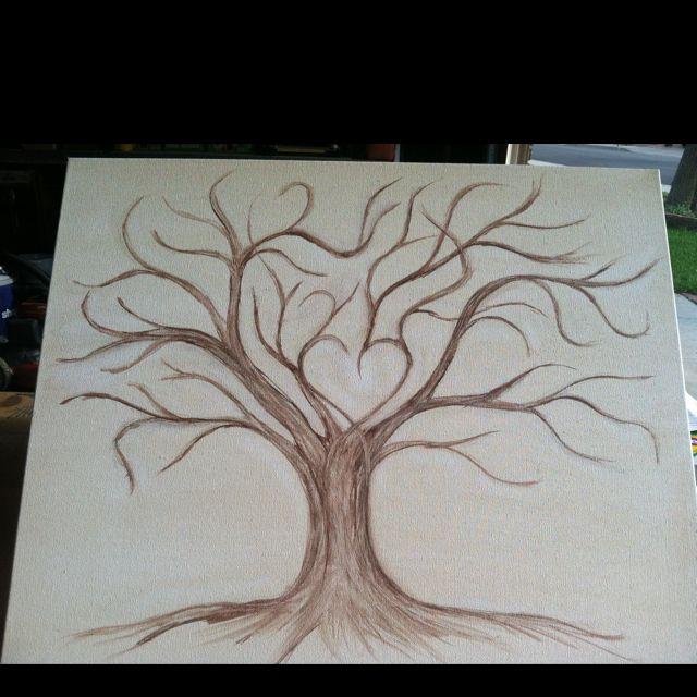 Wedding Guestbook Thumprint Tree Canvas A Great Wedding: Thumb Print Tree Wedding Guest Book!!!