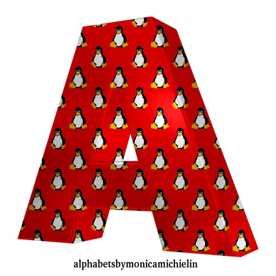 Alfabeto Vermelho Ubuntu Linux Tux Red Alphabet Linux Tux Ubuntu Alfabeto Charlie Brown Preto Wallpaper
