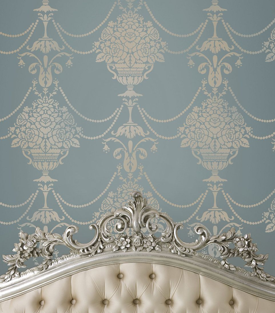 Stencil Duchess Damask - Reusable stencils just like wallpaper -DIY decor.