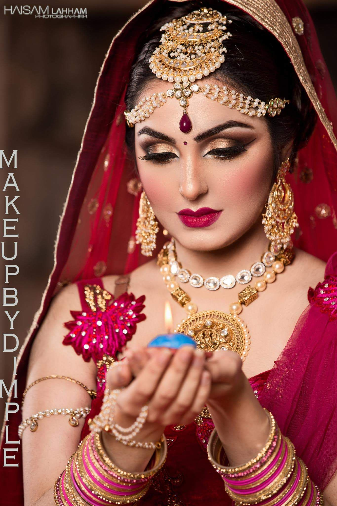 makeup by dimple | modern bridal makeup | indian wedding