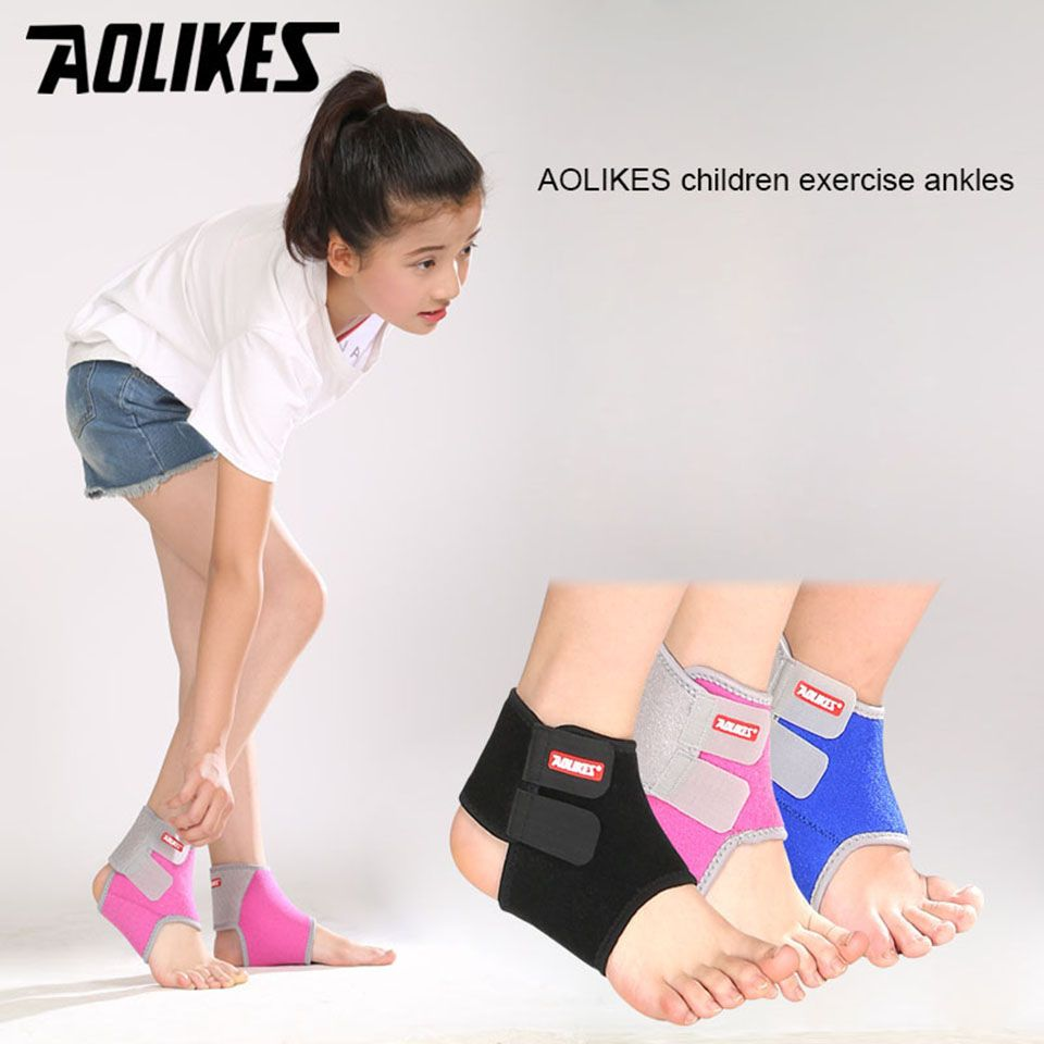 Aolikes 1 pair chidren kids ankle support sport breathable