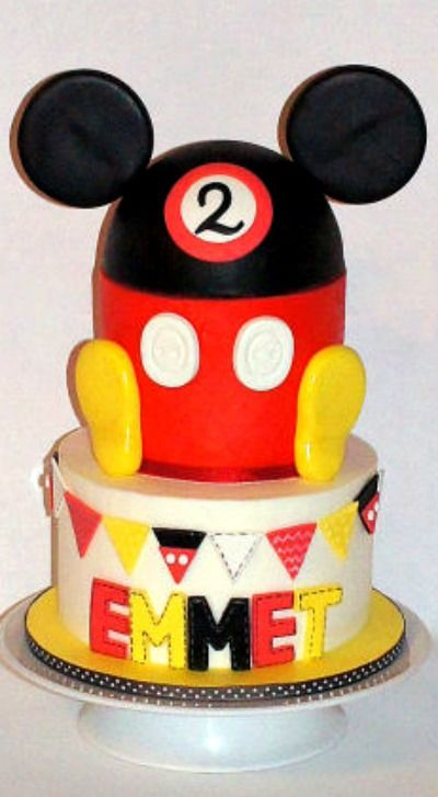 Mickey Mouse Hat Cake Cake Cakes and Cupcakes for Kids birthday