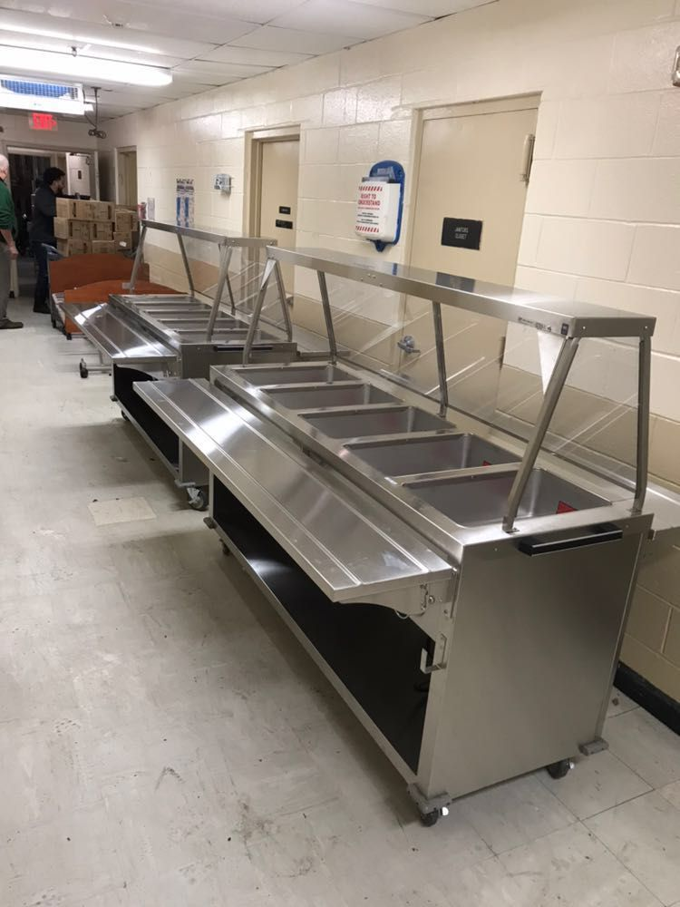 A Couple Steam Tables Getting Ready For Use Httpswww - Cafeteria steam table