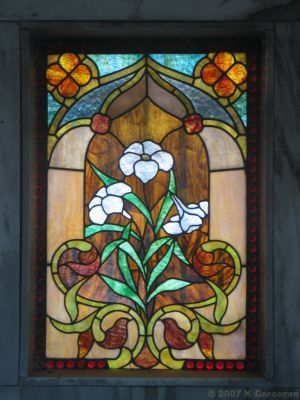 Oak Woods Cemetery, Chicago: Stained Glass Window, Charles Howe Mausoleum